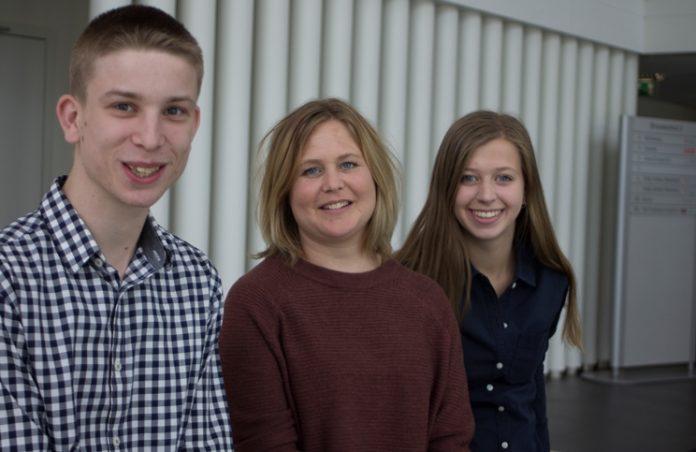 Peerbuddy's (vlnr): Michiel , Becky en Juliette